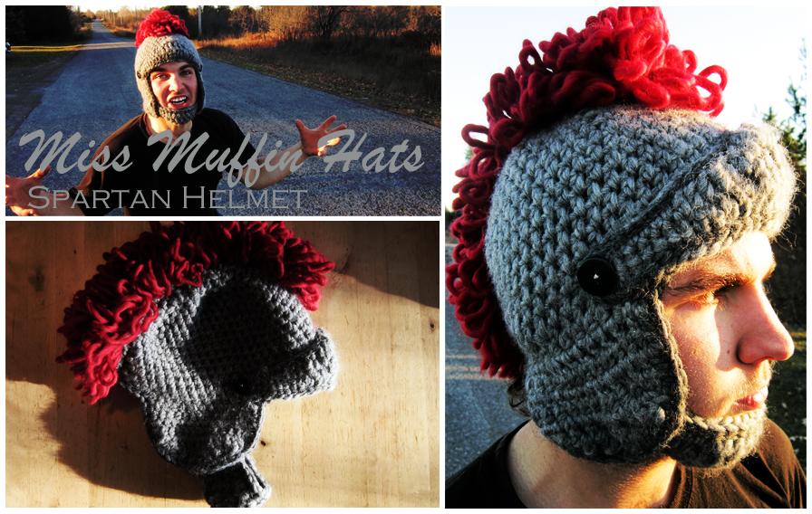 Miss Muffin Hats Spartan Helmet Miss Elsie Designs